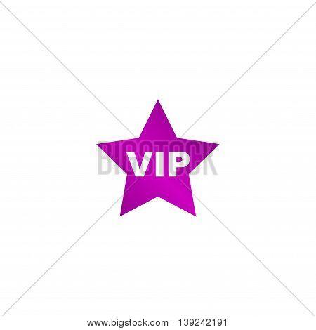 Vip Icon. Vector Concept Illustration For Design