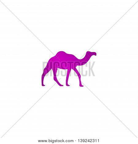 Camel Icon. Vector Concept Illustration For Design