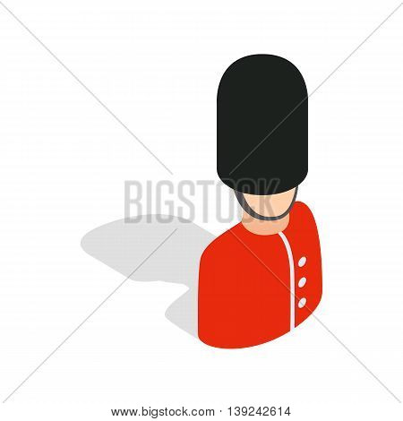 Royal guardsman icon in isometric 3d style isolated on white background. Security symbol