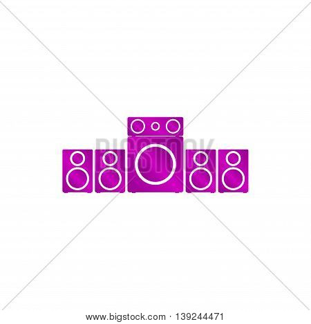 Speaker Icon. Vector Concept Illustration For Design
