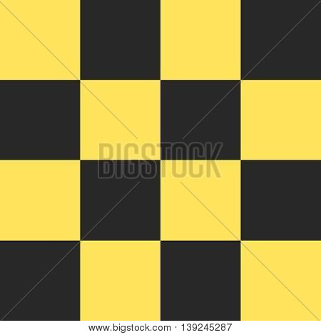 Vector black and yellow checkered taxi background.