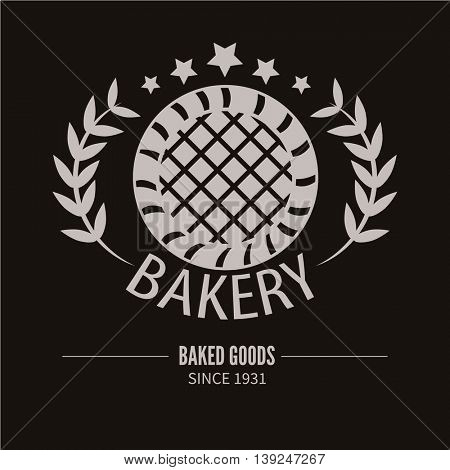Bakery logotype. Bread shop vintage design element. Vector Illustration.