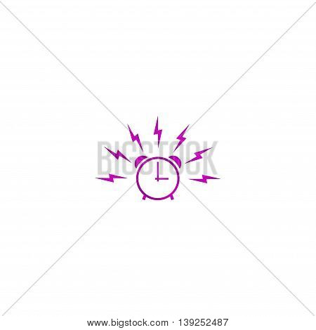 Alarm Clock Sign, Wake Up Icon Illustration.