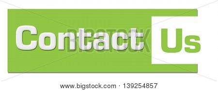 Contact us text written over green background.