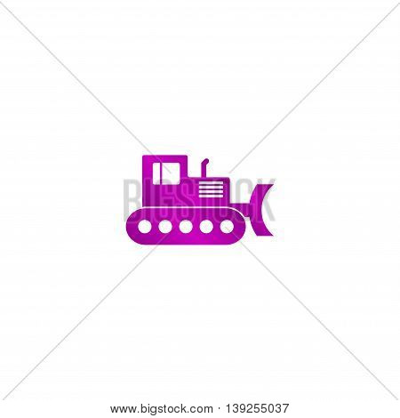 Excavator. Vector Concept Illustration For Design