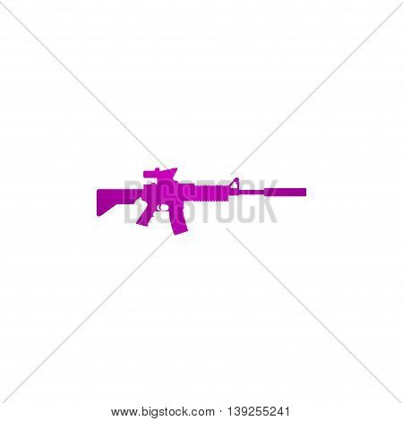 Machine Gun Icon. Vector Concept Illustration For Design.