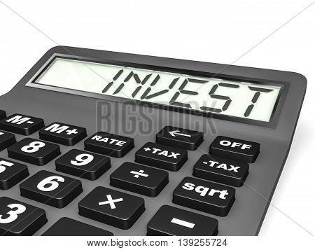 Calculator With Invest On Display.