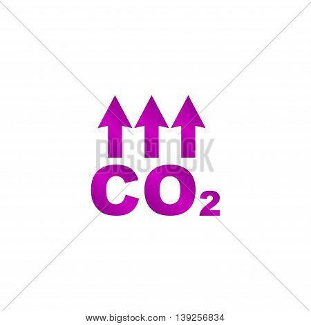 Chemistry Sign. Co2 Carbon Dioxide Icon