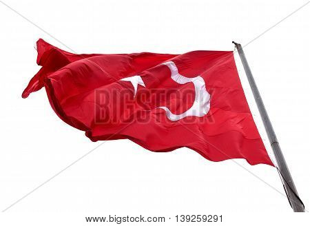 Flag Of Turkey Waving In Wind Day