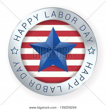Happy labor day sign on white. vector illustration