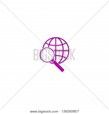 Global Search Icon. World Globe Symbol.
