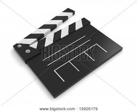 Ilustración 3D de una claqueta
