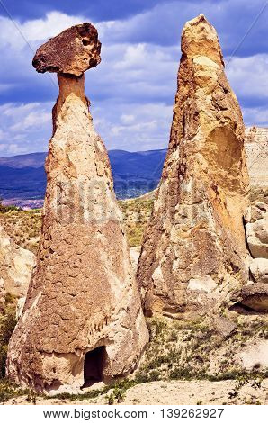 Spectacular Landscape Carved In Volcanic Tuff By Erosion. Cappadocia, Turkey