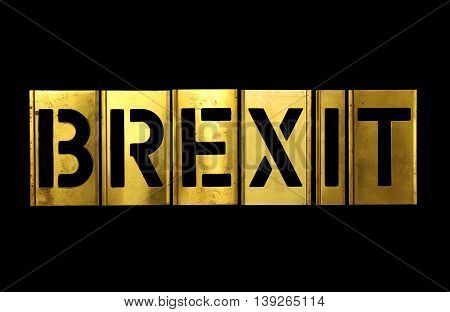 Brexit Sign Military Stencil Army Letter Words
