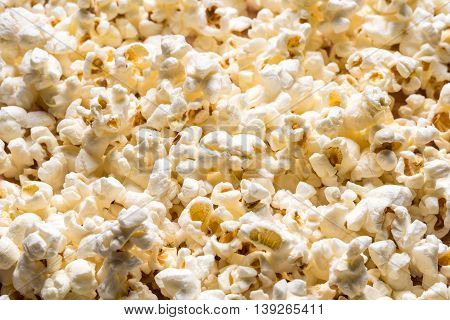 Tasty Air Popped White Popcorn Texture Background