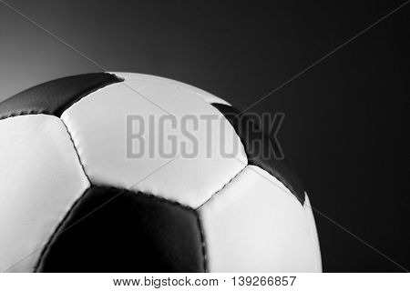 Soccer ball on dark background