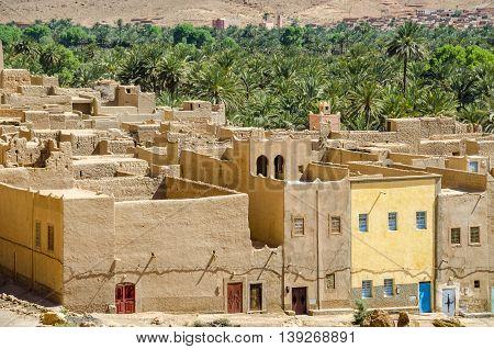 The old village in Ziz valley (Ziz gorge) Morocco.