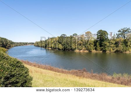 Black Warrior River near Moundville, Alabama, USA