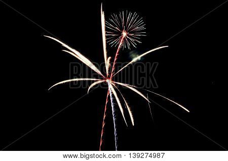 Fireworks display on the 4th of July 2015
