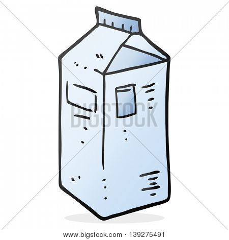 freehand drawn cartoon milk carton