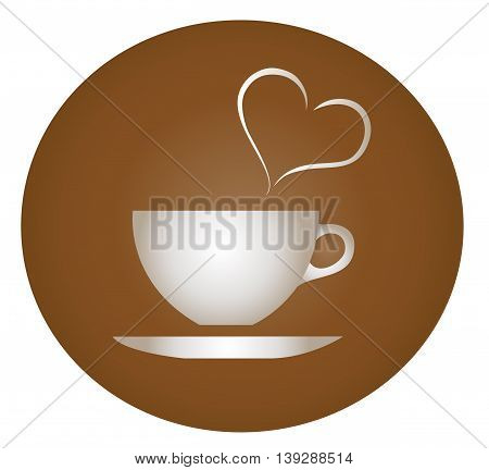 the love of hot drink , coffee cup vector