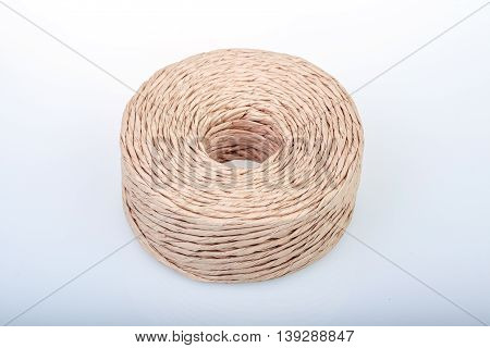 Rope Made Of Rolled-up Paper