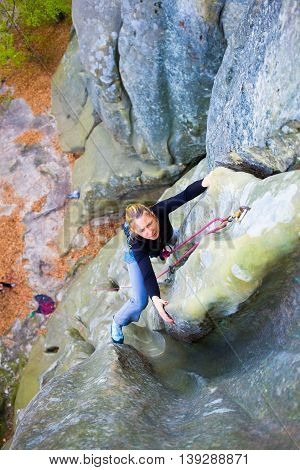 Girl Mountain Climber.