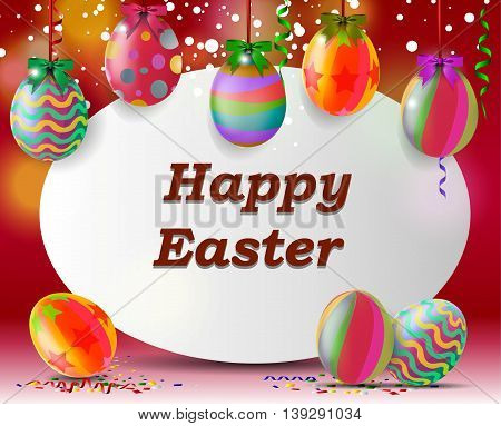 happy easter wit egg background for you design