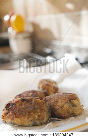 fried calabrian aubergine croquettes on absorbent paper