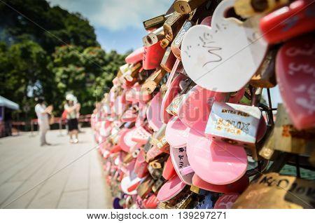 Love Lock at Penang Hill Penang Malaysia