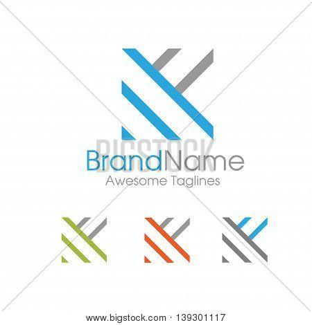 letter K logo simple design template Business corporate. letter k logo Square shape