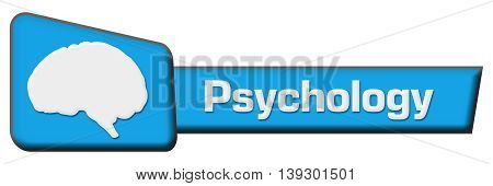 Psychology concept image with text and related symbol.