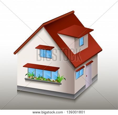cute litle house caroon for you design