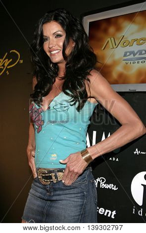 Janice Dickinson at Christian Audigier Fashion Show featuring new Ed Hardy label held in Hollywood, USA on May 21, 2005.