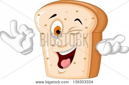 slice of bread cartoon posing for you design