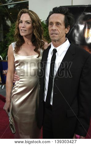 Brian Grazer and Gigi Levangie at the Los Angeles premiere of 'Cinderella Man' held at the Gibson Amphitheatre at Universal City in Hollywood, USA on May 23, 2005.