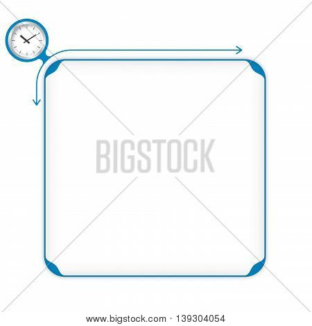 Vector blue box to fill your text and watches