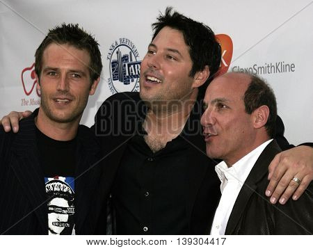 Michael Vartan, Greg Grunberg and Paul Ben-Victor at the Hollywood's Helping Hands art auction held at the Avalon Theater in Hollywood, USA on June 2, 2005.