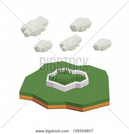 park isometric  isolated icon design, vector illustration  graphic