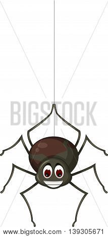 funny spider cartoon posing for you design