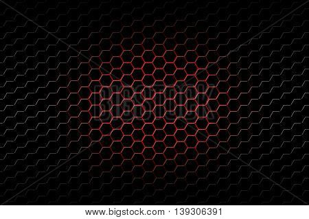 red and black and silver metallic mesh background and texture.