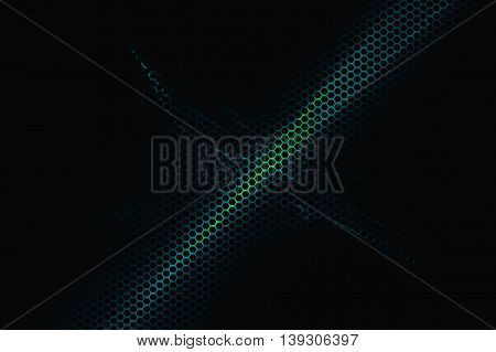 blue and green metallic mesh and light energy digital background texture