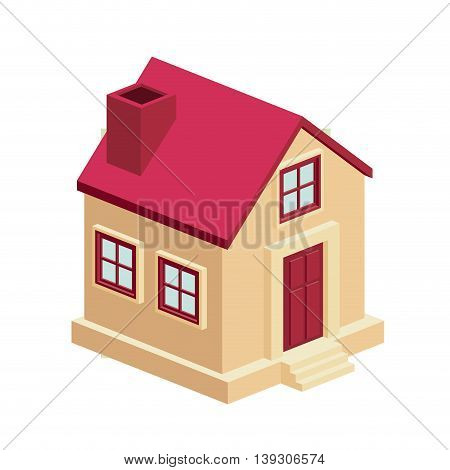 house isometric  isolated icon design, vector illustration  graphic