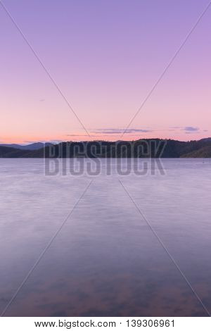 Lake Wivenhoe in Queensland during the day. Apart of Wivenhoe Dam.