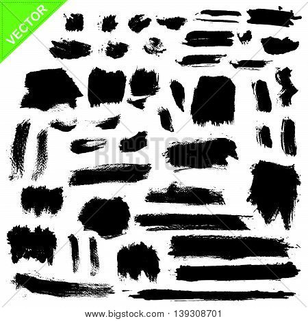 brush strokes vector on white color background