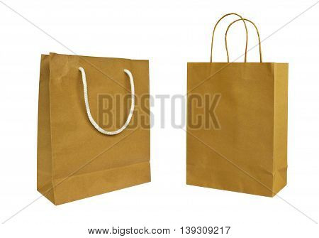 Paper bags isolated on a white background