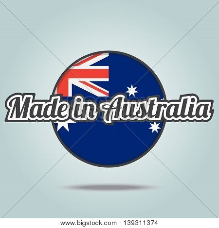 Made in Australia badge. Vector illustration stamp.
