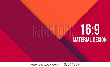Wide Background Unusual modern material design. Red shades and style. Abstract Vector Illustration.
