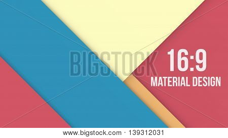 Wide Background Unusual modern material design. Modern shades and style. Abstract Vector Illustration.