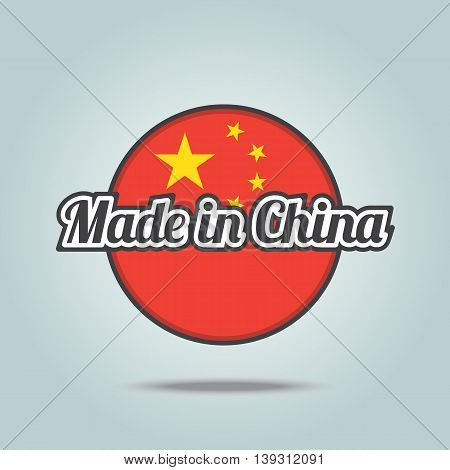 Made in China badge. Vector illustration stamp.